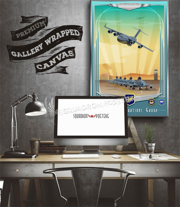 McGuire C-17 KC-10 305th OG 20x30 SP00707 aircraft-prints-posters-vintage-style-art