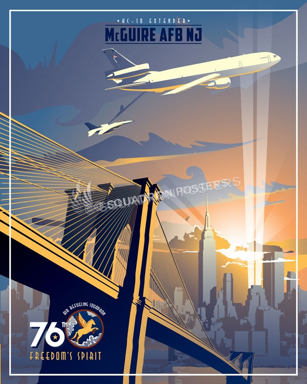 McGuire KC-10 76th ARS SP00740 featured-aircraft-lithograph-vintage-airplane-poster-art