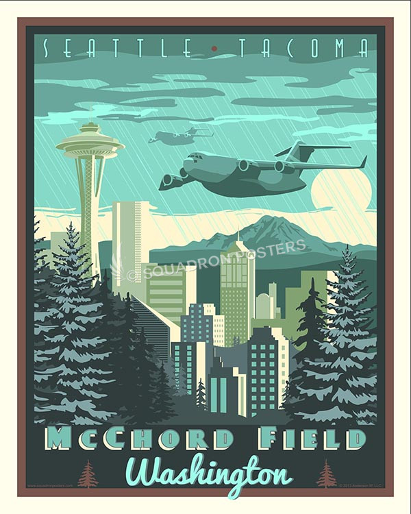 Mcchord Field Washington C 17 Squadron Posters