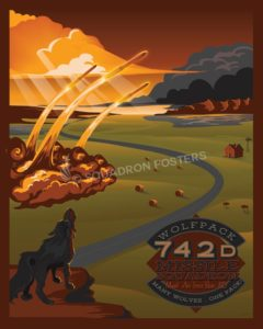 Minot AFB 742d Missile Squadron - version 2 minot_afb_742d_missile_sq_v2_sp01159-featured-aircraft-lithograph-vintage-airplane-poster-art