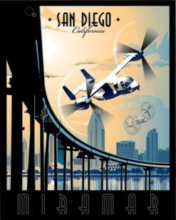 Miramar MV-22 SP00588-vintage-military-aviation-travel-poster-art-print-gift