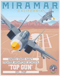 Miramar F-14 TOPGUN SP00743 featured-aircraft-lithograph-vintage-airplane-poster-art