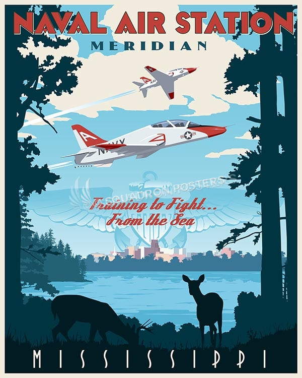 Mississippi-T-45-NAS-Meridian-SP00494-vintage-military-aviation-travel-poster-art-print-gift