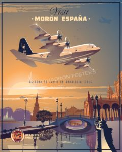 Morón Air Base - Spain, VMGR-252 Moron_AB_KC-130J_VMGR-252_SP00753-featured-aircraft-lithograph-vintage-airplane-poster-art
