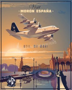 Morón Air Base - Spain Moron_C-130_VMGR-252_SP00830-V2-featured-aircraft-lithograph-vintage-airplane-poster-art