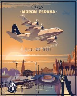 Morón Air Base - Spain Moron_C-130_VMGR-252_SP00830-V2-featured-aircraft-lithograph-vintage-airplane-poster-art