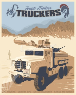 Davis-Monthan AFB 355th LRS Vehicle Ops Mother Truckers SP00658 feature-vintage-print