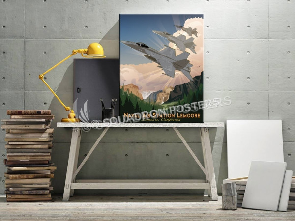 NAS Lemoore F-18 SP00711 canvas-vintage-retro-print