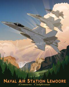 NAS Lemoore - F-18 NAS Lemoore F-18 SP00711 feature-vintage-print