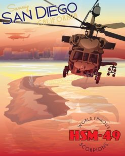 HSM-49 NAS North Island MH-60R NAS_North_Island_MH-60_HSM-49_SP01057-featured-aircraft-lithograph-vintage-airplane-poster-art