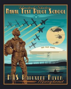 NAS Patuxent River - Naval Test Pilot School NAS Patuxent River USNTPS SP00685 feature-vintage-print