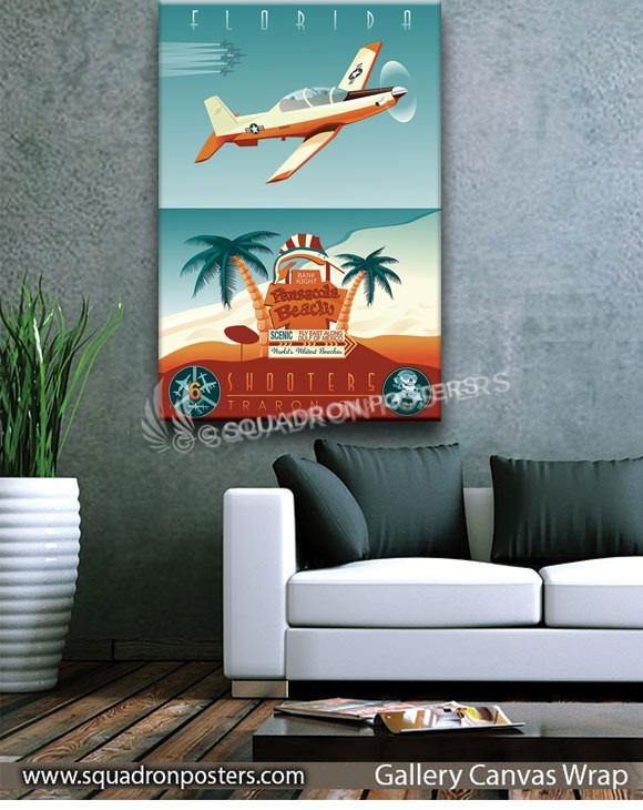 NAS_Pensacola_T-6_VT-6_SP01103-squadron-posters-vintage-canvas-wrap-aviation-prints