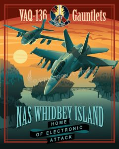 NAS Whidbey EA-18 VAQ-136 SP00693 feature-vintage-print