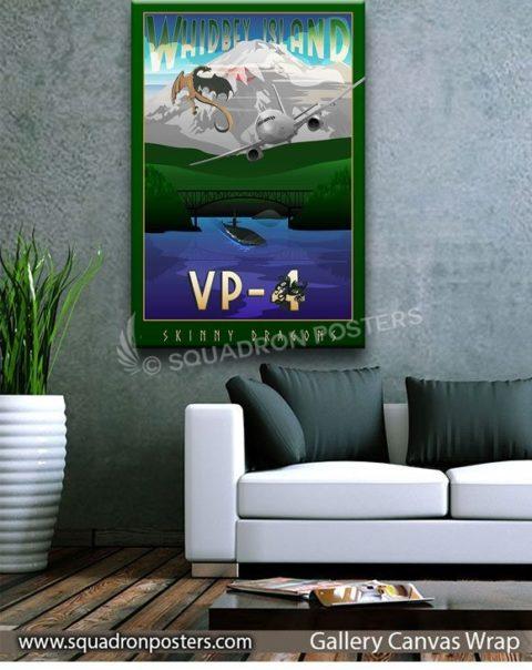 NAS_Whidbey_Island_WA_VP-4_P-8A_GREEN_SP01521-squadron-posters-vintage-canvas-wrap-aviation-prints