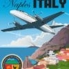 Naval Support Activity Naples Italy C-26D Naples_Italy_C-26D_Naval_Support_SP01344-featured-aircraft-lithograph-vintage-airplane-poster-art