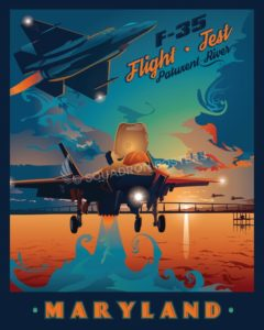 Naval Air Station Patuxent River F-35 Flight Test Nas_Patuxent_River_F-35_GENERIC_v1_SP01479-featured-aircraft-lithograph-vintage-airplane-poster-art
