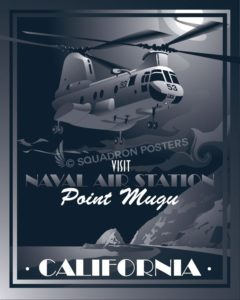 Nas Point Mugu CH46 Sea Knight SP00654 feature-military-aviation-vintage-style-print-gift