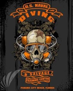 Naval Diving Salvage SP00589-vintage-military-naval-travel-poster-art-print-gift