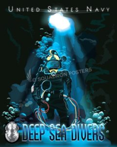 Navy Deep Sea Divers SP00610-vintage-military-navel-travel-poster-art-print-gift