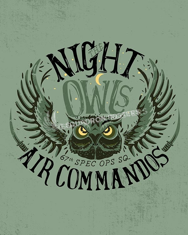 Night Owls SP00527-vintage-military-aviation-travel-poster-art-print-gift