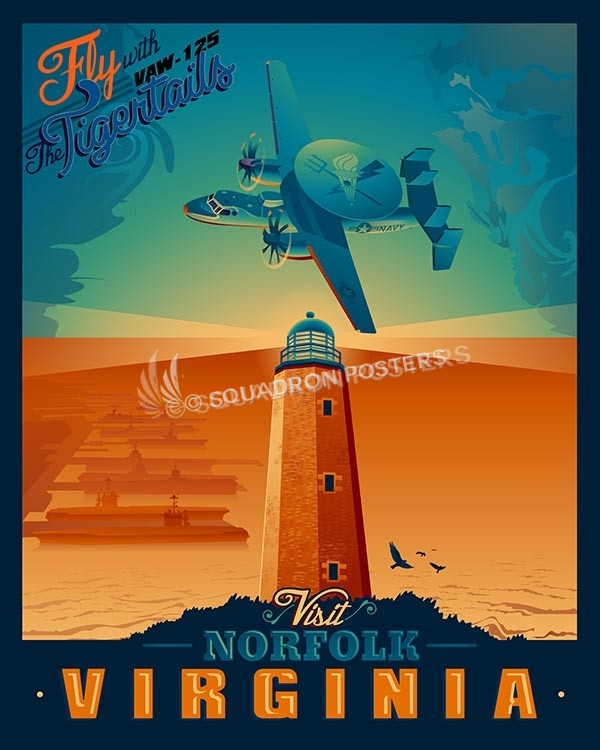 Norfolk-vaw-125-Tigertails-SP00488-vintage-military-aviation-travel-poster-art-print-gift