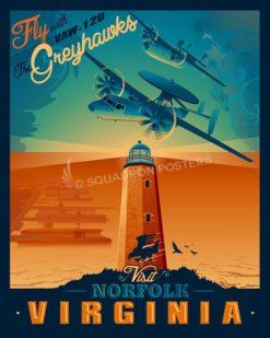 Norfolk-VAW-120-Greyhawks-SP00487-vintage-military-aviation-travel-poster-art-print-gift