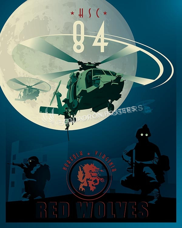 Norfolk v2 HH-60H HSC-84 SP00551-vintage-military-aviation-travel-poster-art-print-gift