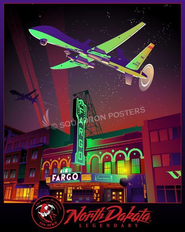 178th Attack Squadron MQ-9 North_Dakota_ANG_MQ-9_178_ATKS_SP01452-featured-aircraft-lithograph-vintage-airplane-poster-art