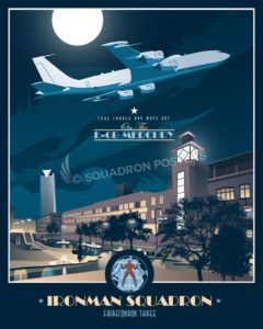 Tinker AFB, VQ-3 Ironmen E-6 Mercury OKC_Tinker_E-6B_VQ-3_SP00746_featured-aircraft-lithograph-vintage-airplane-poster-art