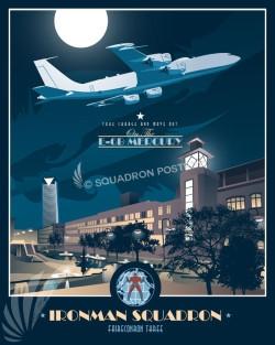 Tinker AFB, VQ-3 Ironmen E-6 Mercury OKC_Tinker_E-6B_VQ-3_SP00746_featured-aircraft-lithograph-vintage-airplane-poster-art