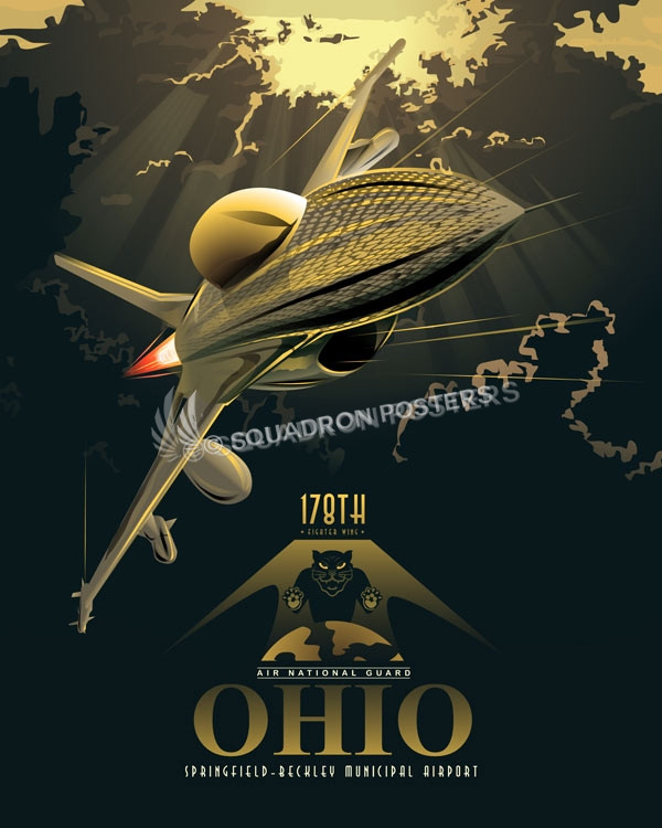 Ohio Ang 178th Fighter Wing Squadron Posters