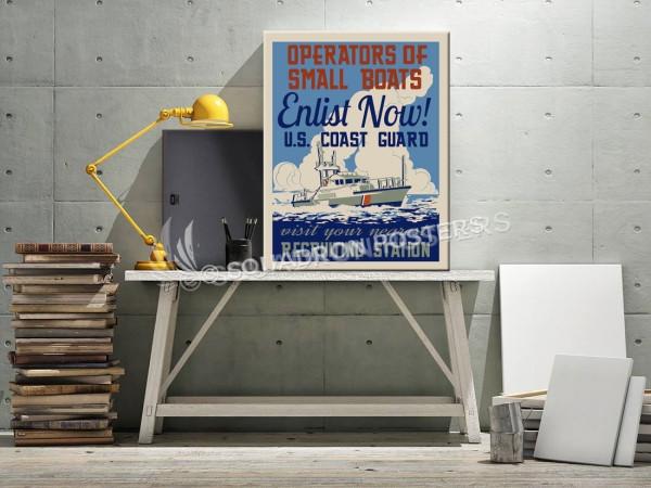 Operators of Small Boats USCG SP00700 canvas-vintage-retro-prints