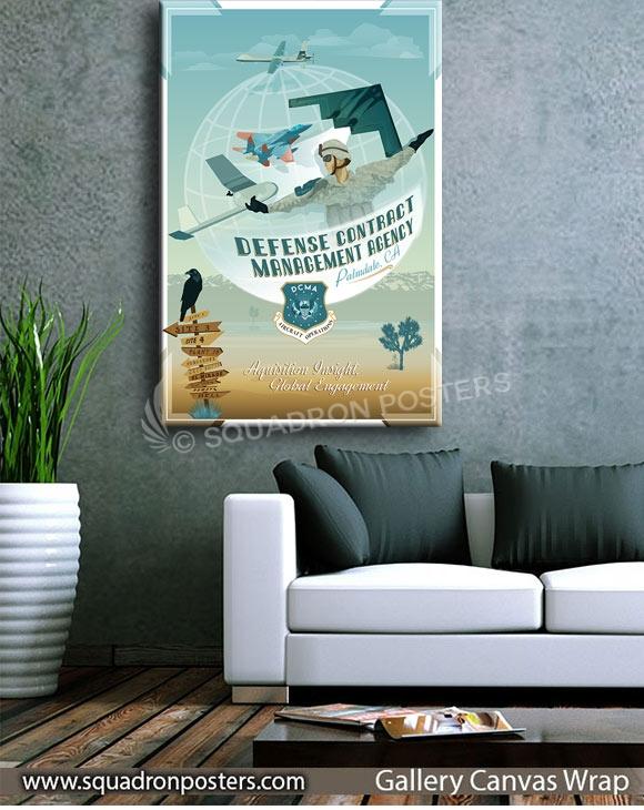 Palmdale DCMA SP00729 squadron-posters-vintage-canvas-wrap-aviation-prints