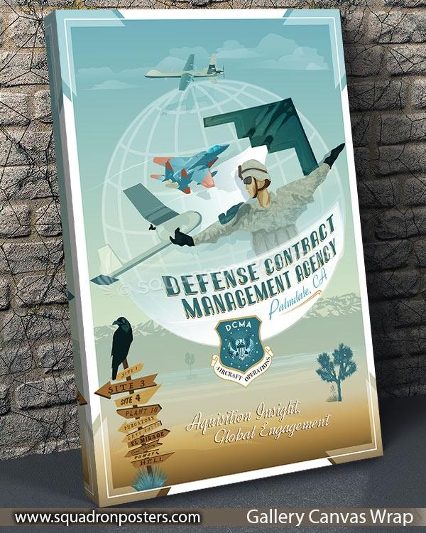 Palmdale DCMA SP00729 vintage-travel-poster-aviation-squadron-print-poster-art
