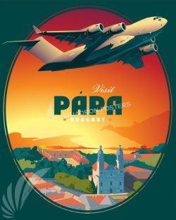 Pápa AB Hungary, C-17 papa_hungary_haw_c-17_generic_sp01175-featured-aircraft-lithograph-vintage-airplane-poster-art
