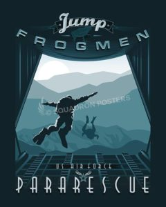 "USAF Pararescue ""PJs"" - Jump Frogmen pararescue-military-aviation-poster-art-print-gift"