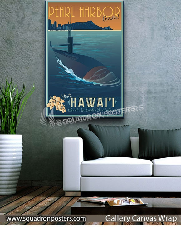 Pearl_Harbor_HI_Sub_SP00926-squadron-posters-vintage-canvas-wrap-naval-prints