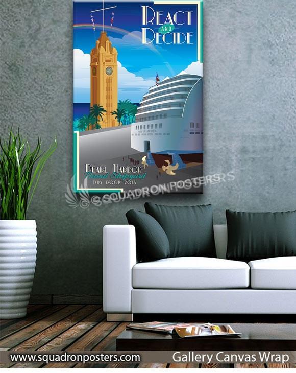 Pearl_Harbor_Naval_Shipyard_Drydock_SP00972-squadron-posters-vintage-canvas-wrap-prints