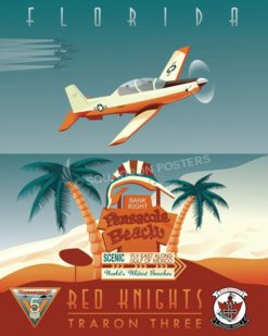 NAS Whiting Field - VT-3 pensacola_florida_t-6_vt-3_sp01204-featured-aircraft-lithograph-vintage-airplane-poster-art