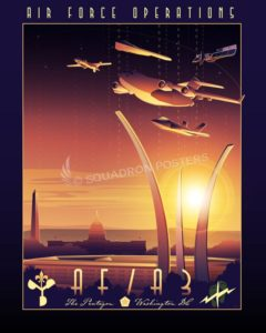 Pentagon AF Pentagon_C-17_AFOPS_HAF_A3_SP01400-featured-aircraft-lithograph-vintage-airplane-poster-art