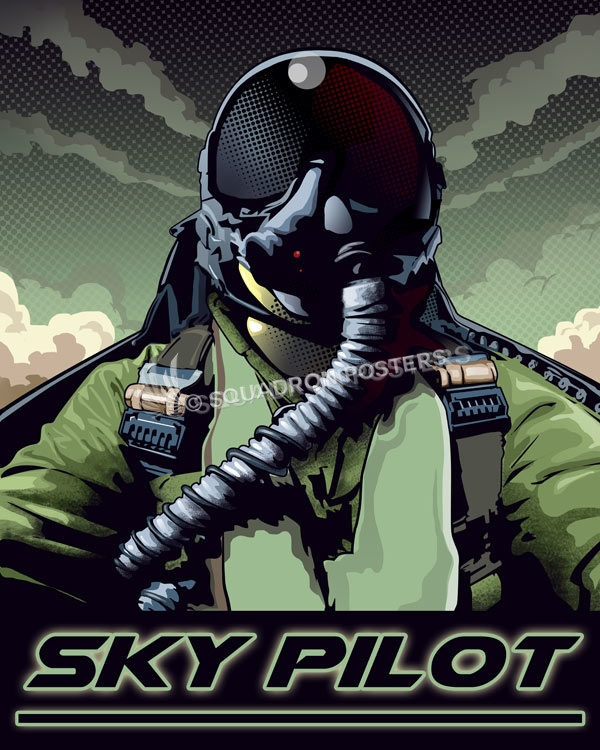 Fighter Pilot Pop Art Squadron Posters