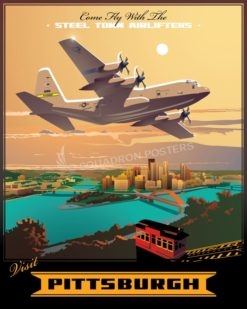 Pittsburgh 758th Airlift Squadron C-130H pittsburgh_c-130h_758th_as_sp01230-featured-aircraft-lithograph-vintage-airplane-poster-art