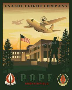 Pope C-27 USASOC 16x20v2 SP00454-vintage-military-aviation-travel-poster-art-print-gift