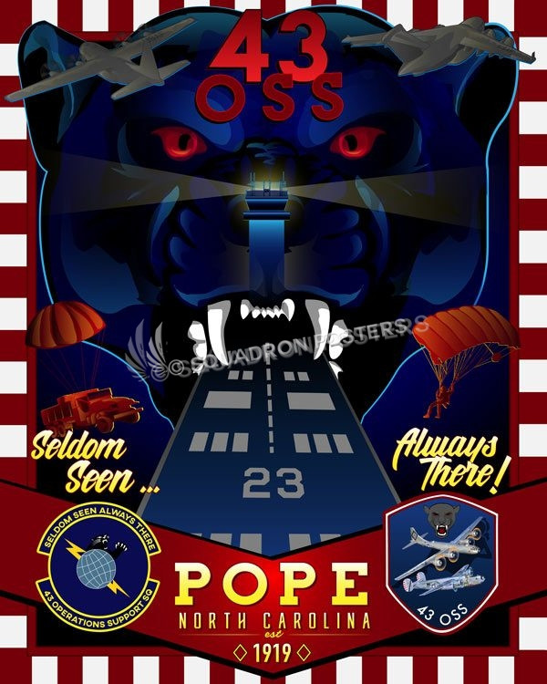 Pope Afb Nc 43rd Oss Squadron Posters