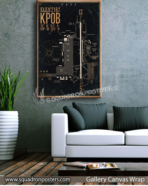 Pope_afb_KPOB_airfield_map-SP00897-squadron-posters-vintage-canvas-wrap-aviation-prints