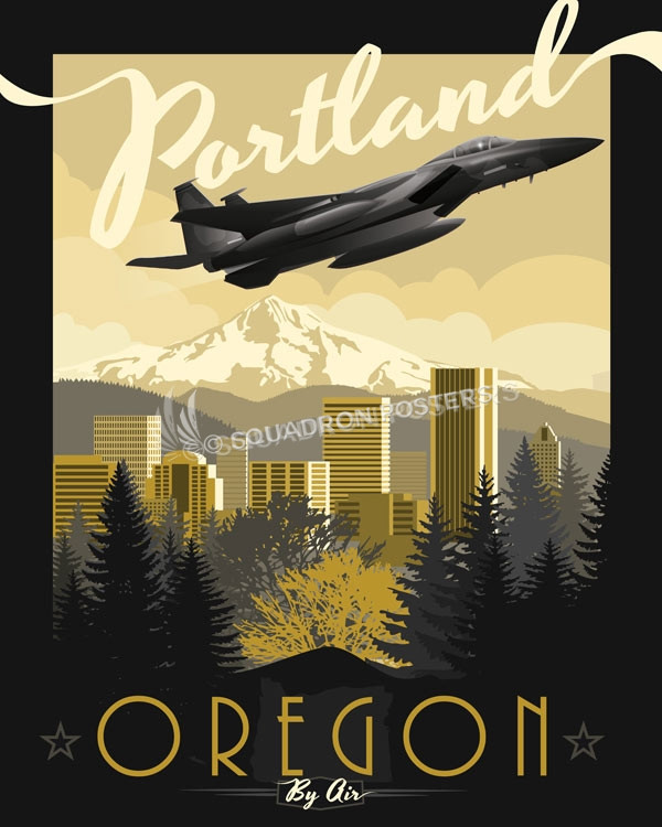 Portland Air National Guard Base Portland_Oregon_F15c_SP00945-featured-aircraft-lithograph-vintage-airplane-poster-art