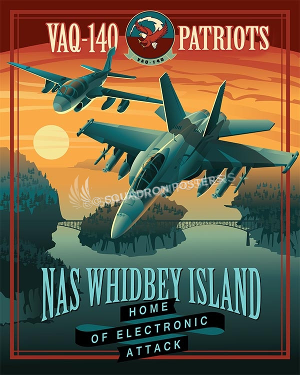 NAS Whidbey Island VAQ-140 Poster Feature NAS Whidbey EA-18 VAQ-140 16x20 SP00496