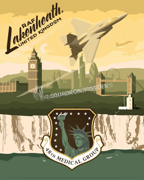 Raf Lakenheath 48th Medical Group Squadron Posters