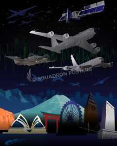 World Travel Military Aviation poster art RC-135_SP01311-featured-aircraft-lithograph-vintage-airplane-poster-art