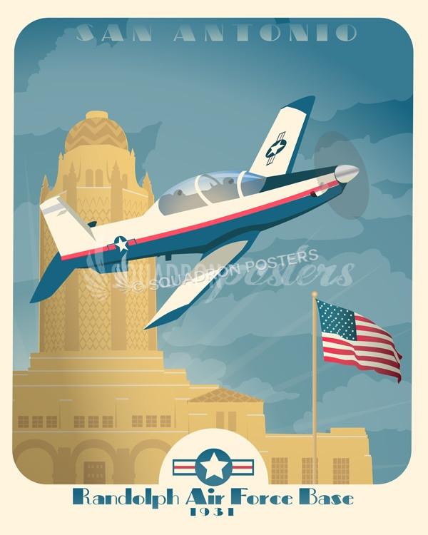 Randolph AFB T-6 Texan II poster art.